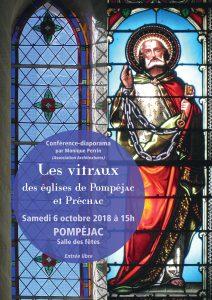 Conférence diaporama - vitraux Pompéjac / Préchac @ Salle des fêtes  | Pompéjac | Nouvelle-Aquitaine | France