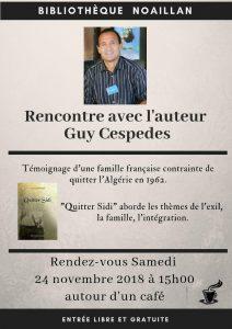 Rencontre avec Guy CESPEDES - Bibliothèque municipale @ bibliothèque municipale  | Noaillan | Nouvelle-Aquitaine | France