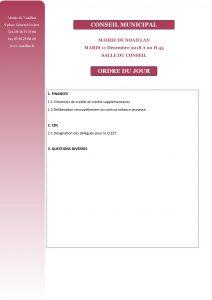Conseil Municipal @ Salle du Conseil    Noaillan   Nouvelle-Aquitaine   France